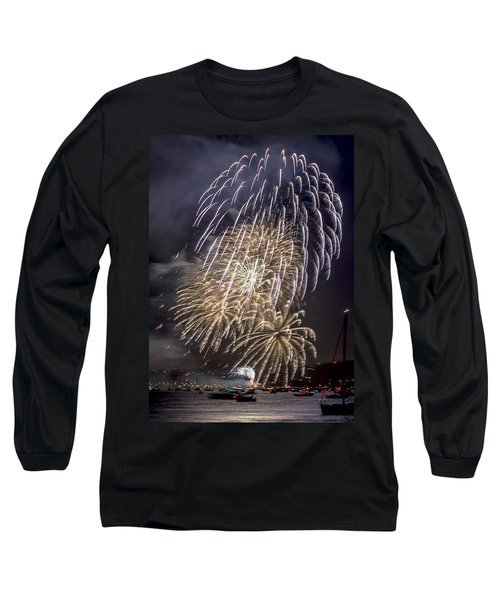 Golden Gate Bridge 75th Anniversary Fireworks 15 Long Sleeve T-Shirt