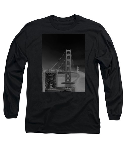 Golden Gate Bridge To Sausalito Long Sleeve T-Shirt by Connie Fox