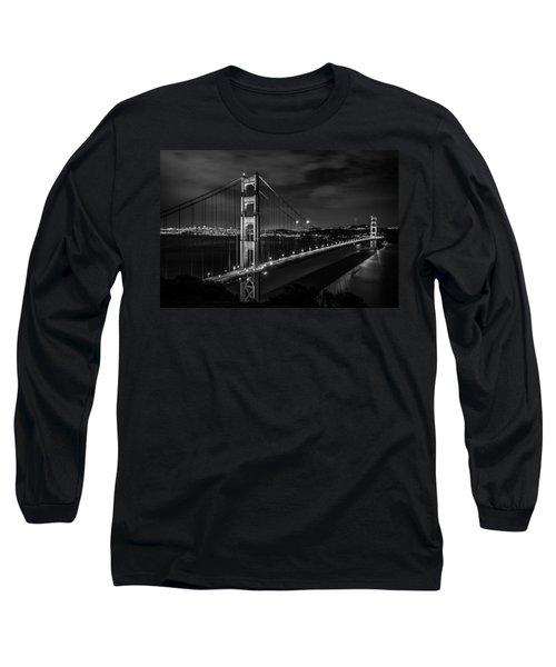 Golden Gate Evening- Mono Long Sleeve T-Shirt