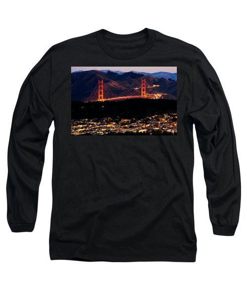 Golden Gate Sunrise Long Sleeve T-Shirt