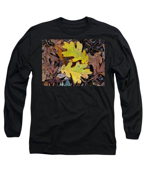 Golden Oak Leaf Duet Long Sleeve T-Shirt