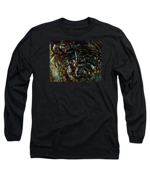 Golden Ripples Long Sleeve T-Shirt by Lehua Pekelo-Stearns
