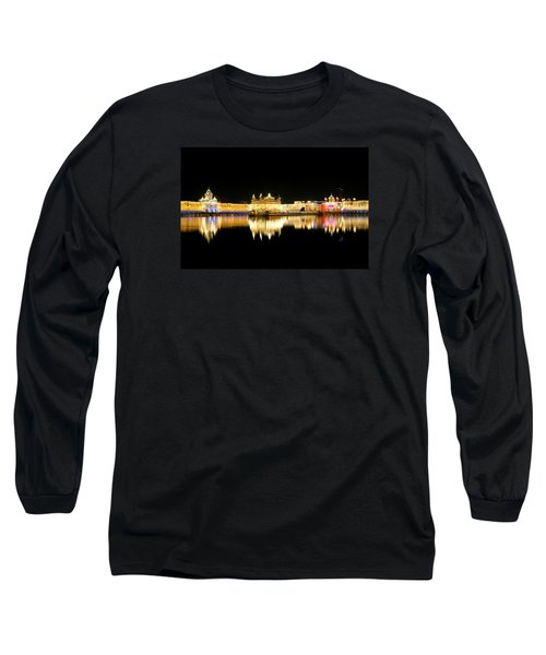 Golden Temple Long Sleeve T-Shirt by Manjot Singh Sachdeva