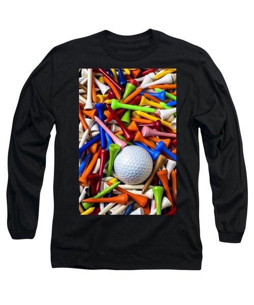 Golf Ball And Tees Long Sleeve T-Shirt