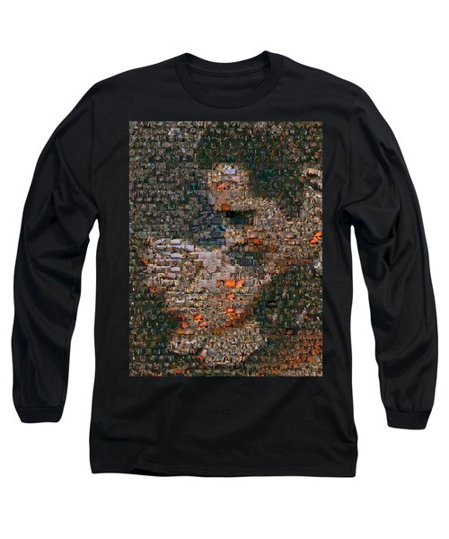 Gone With The Wind Scene Mosaic Long Sleeve T-Shirt by Paul Van Scott