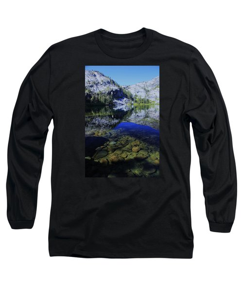 Good Morning Eagle Lake Long Sleeve T-Shirt by Sean Sarsfield