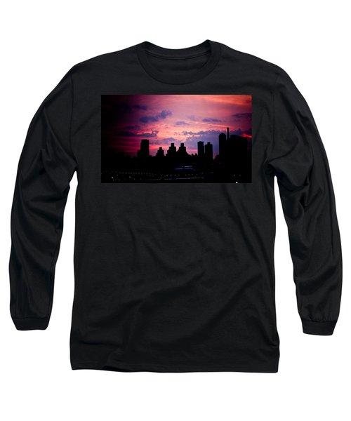 Good Morning New York Long Sleeve T-Shirt by Sara Frank
