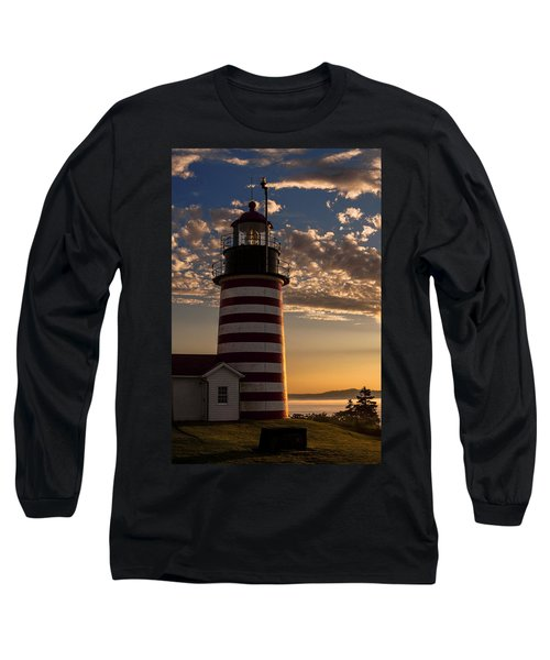 Good Morning West Quoddy Head Lighthouse Long Sleeve T-Shirt