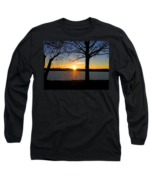 Good Night Potomac River Long Sleeve T-Shirt by Emmy Marie Vickers
