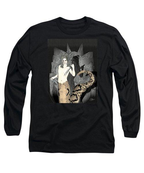 Male Medusa  Long Sleeve T-Shirt