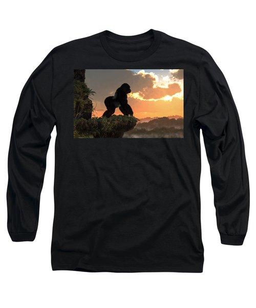 Gorilla Sunset Long Sleeve T-Shirt