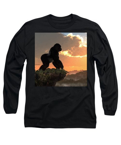 Gorilla Sunset Long Sleeve T-Shirt