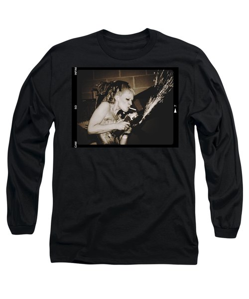 Long Sleeve T-Shirt featuring the photograph Got A Light by Alice Gipson