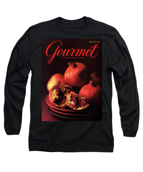 Gourmet Cover Featuring A Plate Of Pomegranates Long Sleeve T-Shirt