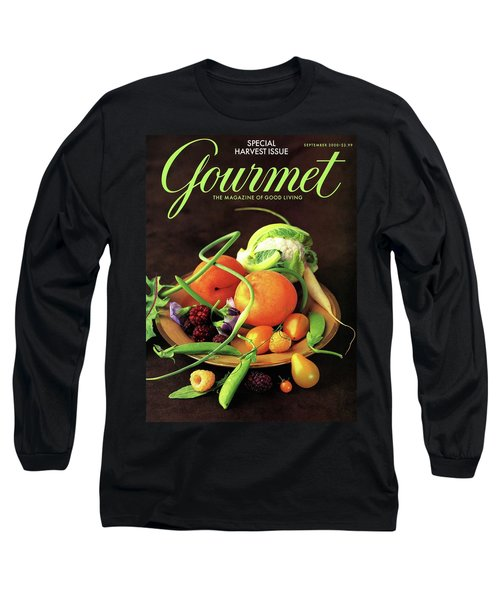 Gourmet Cover Featuring A Variety Of Fruit Long Sleeve T-Shirt