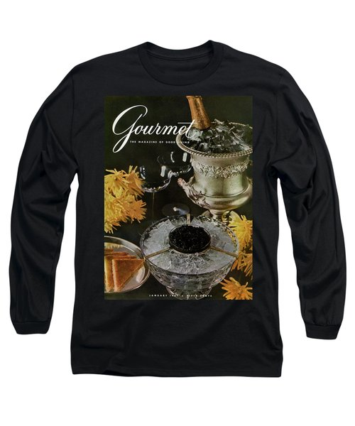 Gourmet Cover Featuring A Wine Cooler Long Sleeve T-Shirt