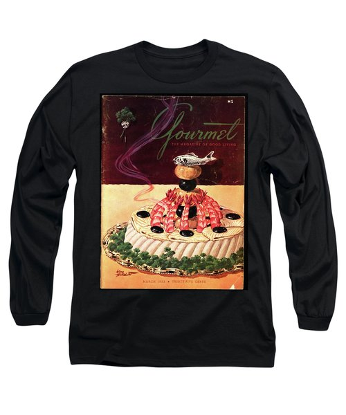 Gourmet Cover Illustration Of A Filet Of Sole Long Sleeve T-Shirt
