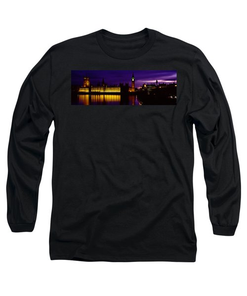 Government Building Lit Up At Night Long Sleeve T-Shirt