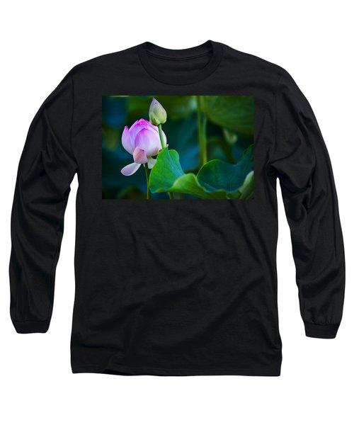 Graceful Lotus. Pamplemousses Botanical Garden. Mauritius Long Sleeve T-Shirt