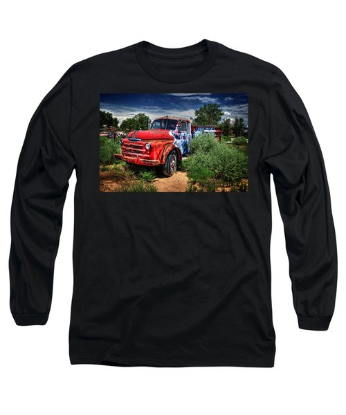 Long Sleeve T-Shirt featuring the photograph Grafitti Fire Truck by Ken Smith