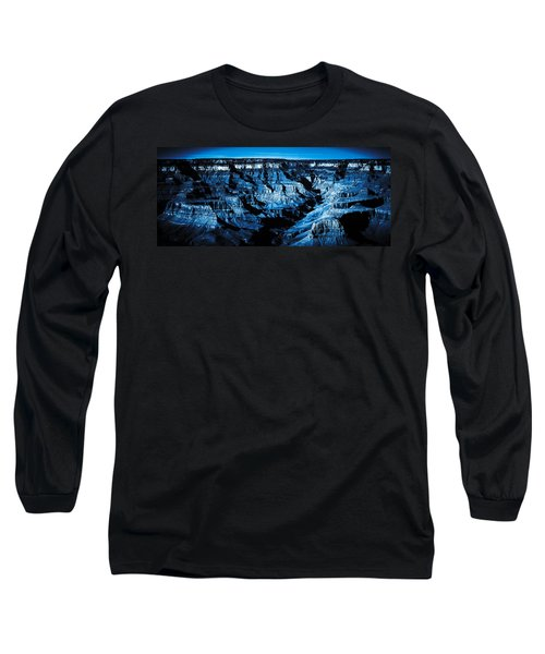 Grand Canyon In Blue Long Sleeve T-Shirt