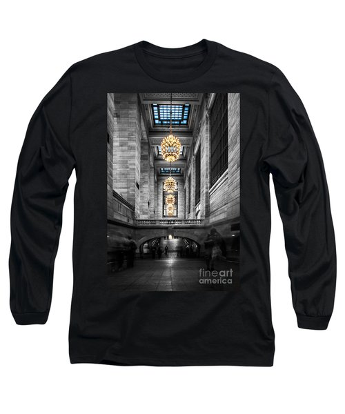 Grand Central Station IIi Ck Long Sleeve T-Shirt by Hannes Cmarits