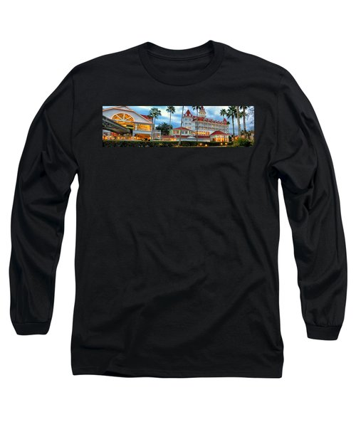 Grand Floridian Resort Walt Disney World Long Sleeve T-Shirt by Thomas Woolworth