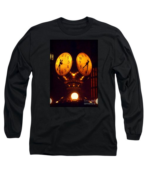 Grand Old Clock - Grand Central Station New York Long Sleeve T-Shirt by Miriam Danar