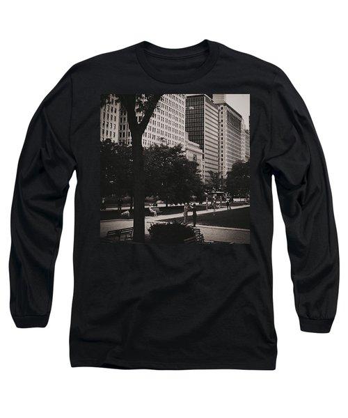Grant Park Chicago - Monochrome Long Sleeve T-Shirt