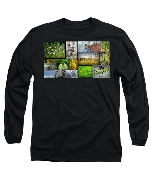 Grass Collage Variety Long Sleeve T-Shirt