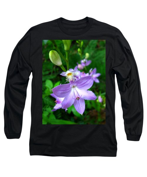 Grass Pink Orchid Long Sleeve T-Shirt
