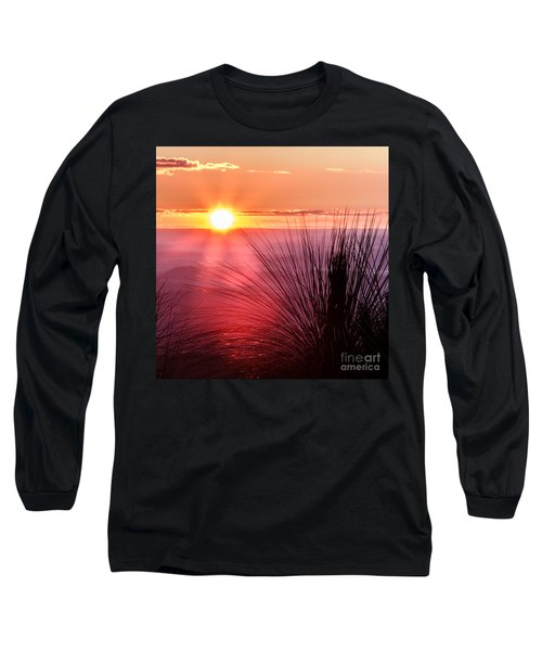 Long Sleeve T-Shirt featuring the photograph Grasstree Sunset by Peta Thames