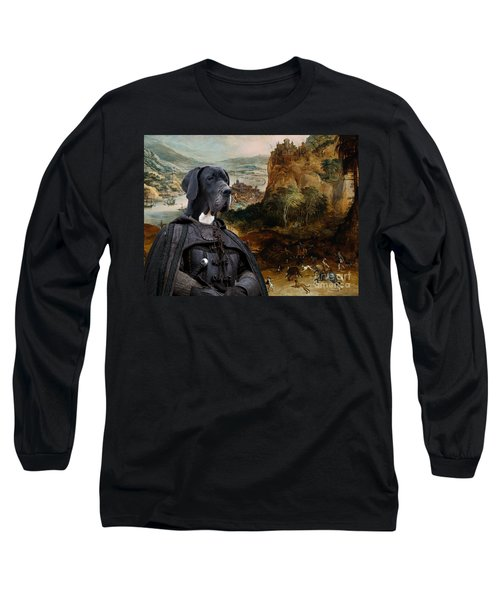 Great Dane Art - The Boar Hunt Long Sleeve T-Shirt