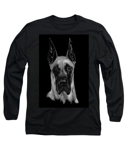 Great Dane Long Sleeve T-Shirt by Rachel Hames