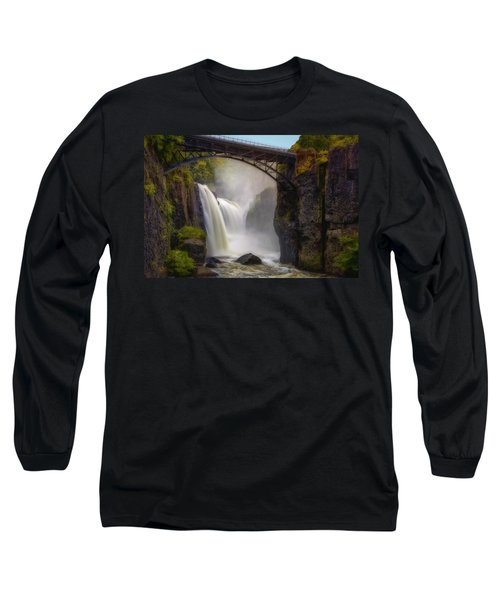 Long Sleeve T-Shirt featuring the photograph Great Falls Mist by Susan Candelario