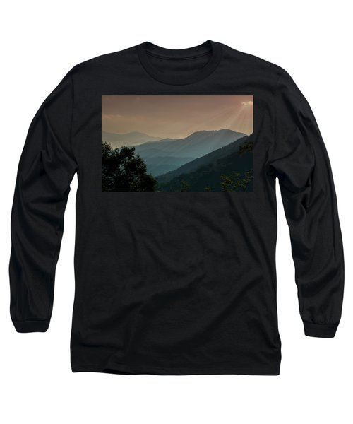 Great Smoky Mountains Blue Ridge Parkway Long Sleeve T-Shirt by Patti Deters