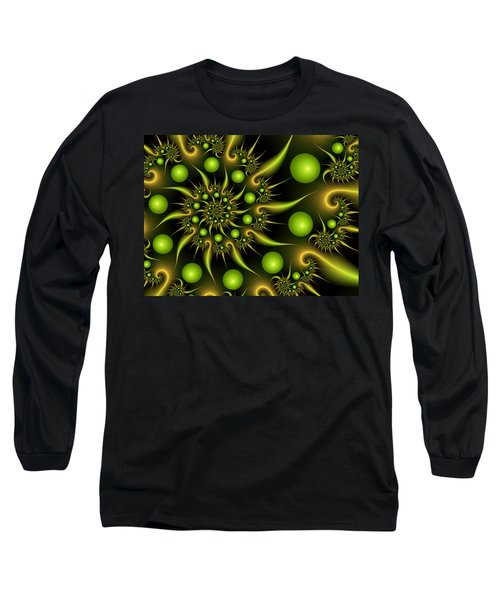 Long Sleeve T-Shirt featuring the digital art Green And Gold by Gabiw Art