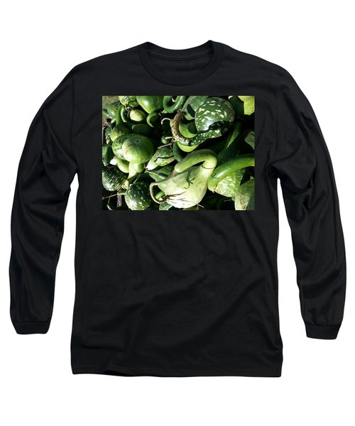 Green Goosenecks Long Sleeve T-Shirt by Caryl J Bohn