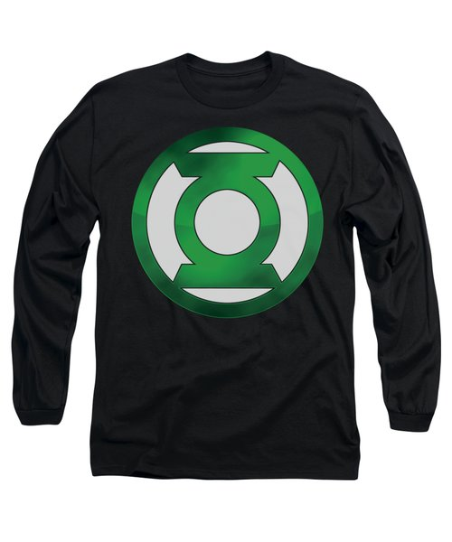 Green Lantern - Green Chrome Logo Long Sleeve T-Shirt
