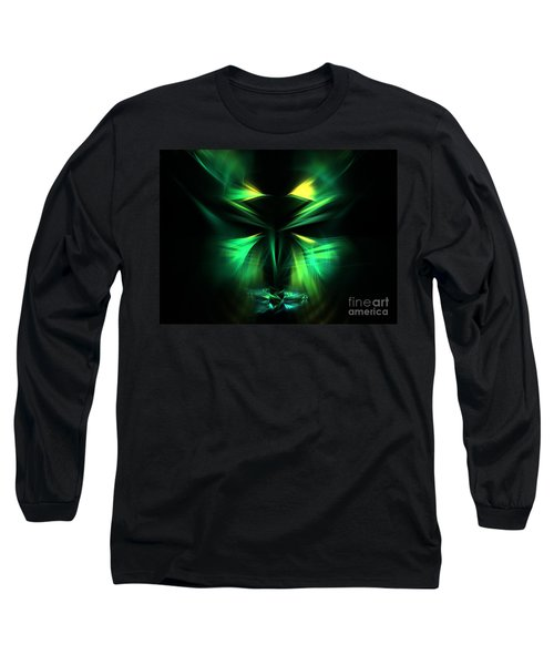 Green Man Long Sleeve T-Shirt by Kim Sy Ok
