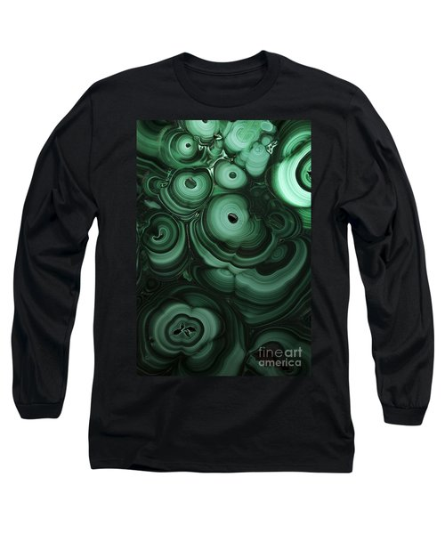 Green Patterns Of Malachite Long Sleeve T-Shirt