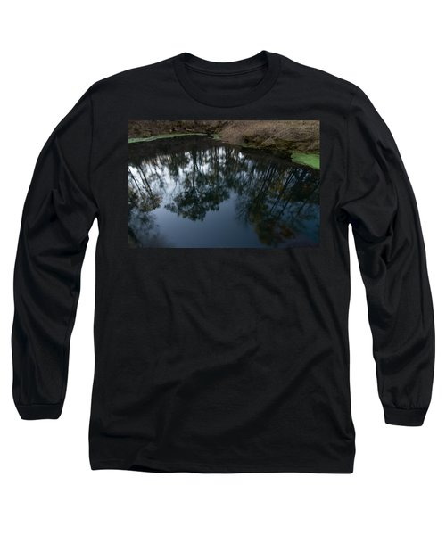 Long Sleeve T-Shirt featuring the photograph Green Sink Reflection by Paul Rebmann