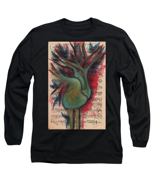 Green Tree Of Life Long Sleeve T-Shirt by Abril Andrade Griffith