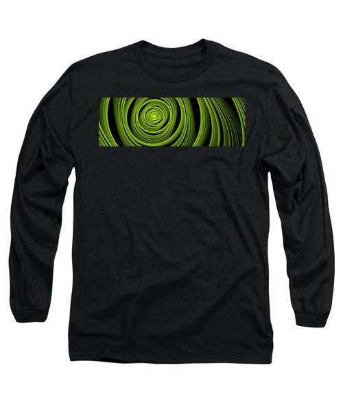 Long Sleeve T-Shirt featuring the digital art Green Wellness by Gabiw Art