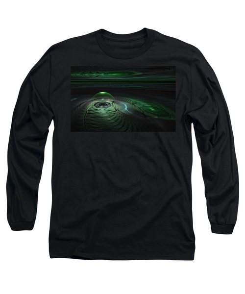 Long Sleeve T-Shirt featuring the digital art Greenland Outpost by GJ Blackman