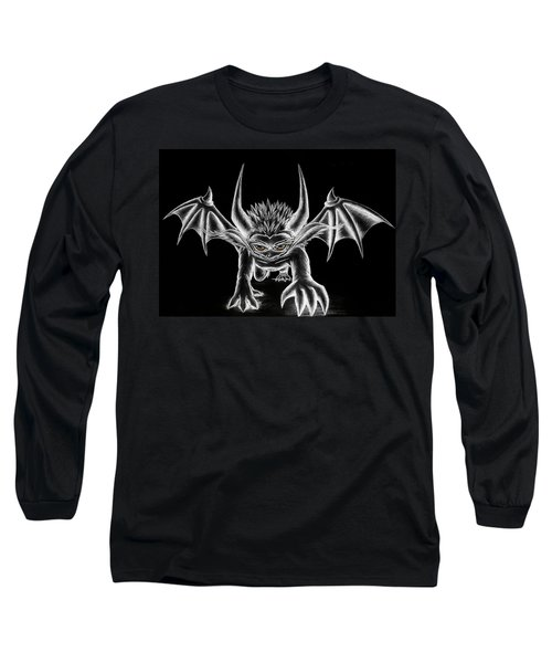 Grevil Chalk Long Sleeve T-Shirt by Shawn Dall