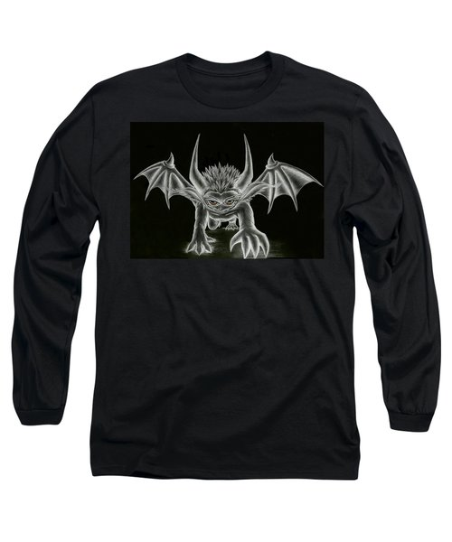 Grevil Statue Long Sleeve T-Shirt by Shawn Dall