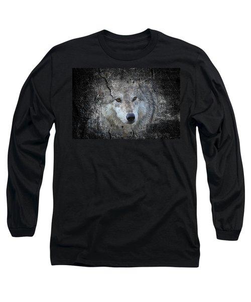 Grey Stone Long Sleeve T-Shirt by Athena Mckinzie