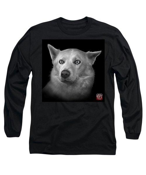 Greyscale Mila - Siberian Husky - 2103 - Bb Long Sleeve T-Shirt