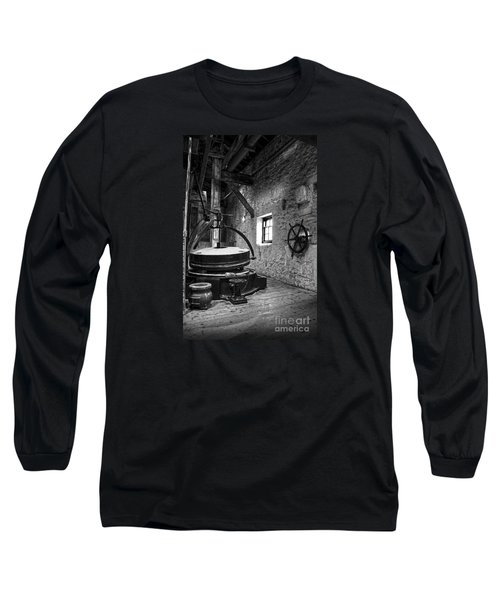 Grinder For Unmalted Barley In An Old Distillery Long Sleeve T-Shirt